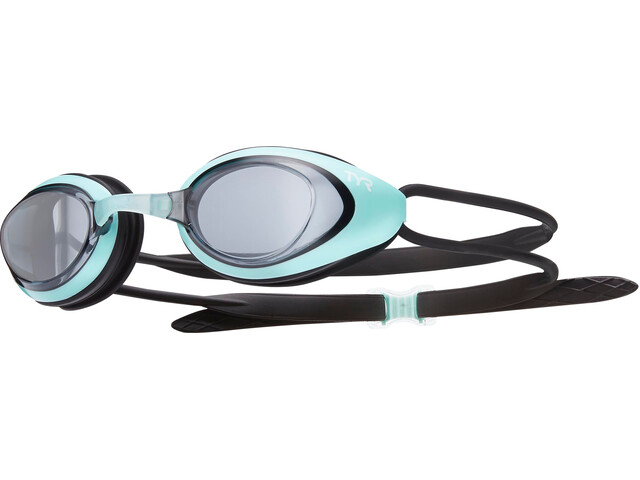 TYR Black Hawk Racing Goggles Women smoke/mint/black